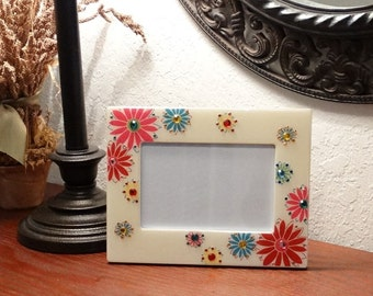 Floral Bling Picture Frame