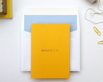 Hooray! - greeting card
