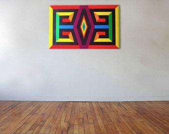 Colour Aztec - Acrylic on canvas - 80cm x 50cm