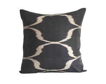 Black Ikat Cushion