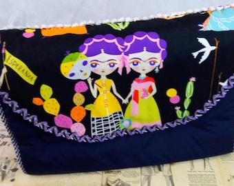 SUMMER SALE! Frida Kahlo nappy diaper bag - great baby shower gift!