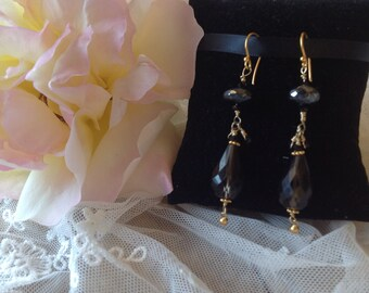 Elegant Mystic Spinel and Smoky Topaz Dangle Earrings