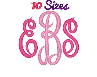 Master Circle Monogram Embroidery Font Machine Embroidery Fonts File Pack Set 10 Sizes Digital Design
