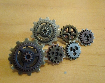 Steamounk inspired hair clips (2)