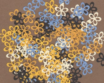 100 - 1 inch Flowers Sun and Sea Colors for Paper Crafts