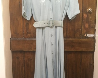 1950s Vintage Day Dress with Original Belt