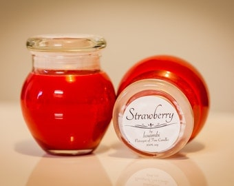 Soy Candle - Strawberry - Bean Pot