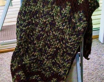 Green Camouflage Blanket