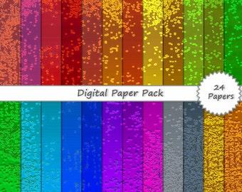 Metallic DIGITAL PAPER PACK // rainbow glitter foil digital scrapbook paper 12x12 - digital background - scrapbook pages - scrapbook kit