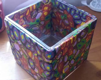 Funky Colourful Square Vase