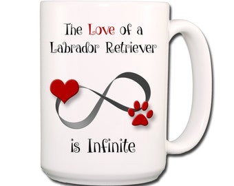 Labrador Retriever Infinite Love Large 15 oz Coffee Mug