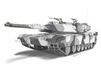 Australian M1A1 Abrams from the 1st Armoured Regiment RAAC