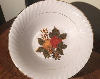 "Enoch Wedgwood (Tunstall) Ltd. England ""English Harvest"" 7'' D bowls (set of 2)"