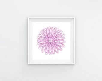 Spirograph violet