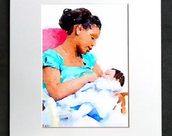 Breastfeeding at Home • Matted Print
