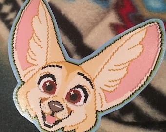 Fennec Fox Pixel Vinyl Sticker