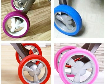 Colored tires on wheels STOKKE