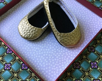 Wellie Wisher Shoes Gold Faux Leather Ready to Ship