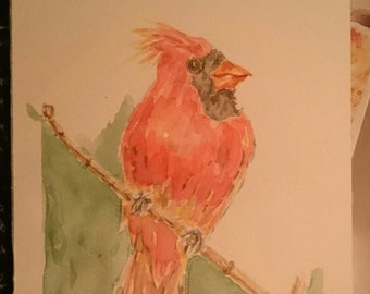 Bird painting, watercolor, original painting