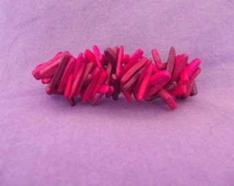 Colorful wooden Hair clip