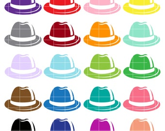Caps clip art Hats digital Caps clipart Hats PNG Caps PNG colorful Hats rainbow clipart Caps digital Instant Download for Scrapbooking
