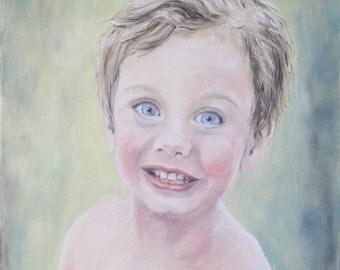 Custom portrait | Oil on canvas | Original painting | Customized