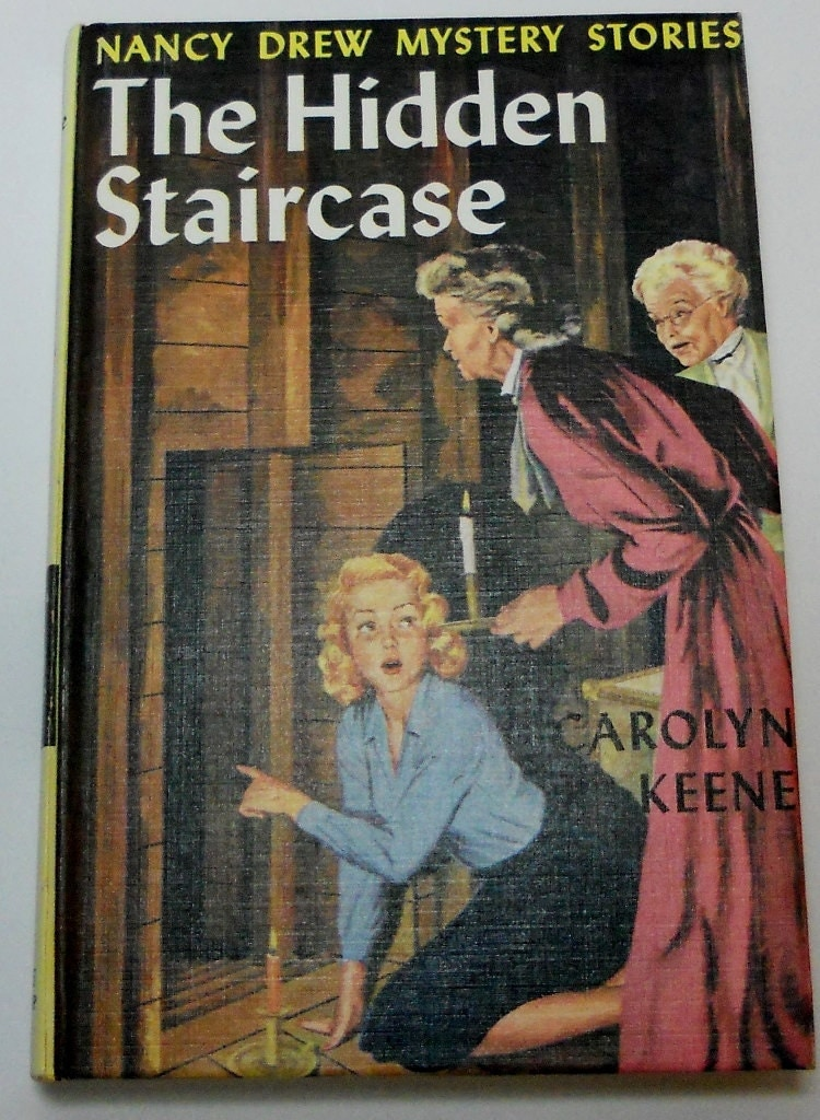 Nancy Drew 2 The Hidden Staircase 1st PC Blue EP 1965 Print