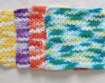 Crochet dish rags