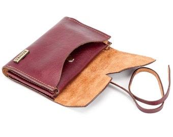 Unisex handmade, full grain leather wallet. Handcrafted, full-grain leather wallet.