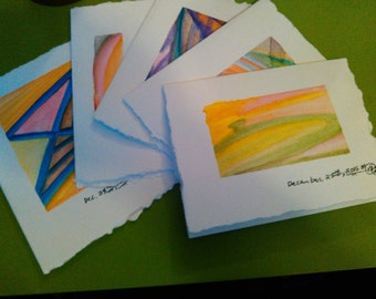 Random pack of 5 note cards