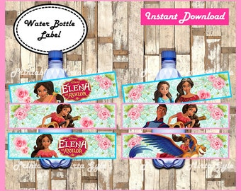 Elena of Avalor Water Bottle Label, printable Elena of Avalor party Water Bottle Label, Elena of Avalor water labels