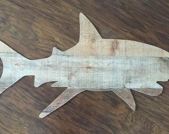 Shark Wall Decoration, Shark Cut Out, nautical bedroom living room nursery or kids room wall art