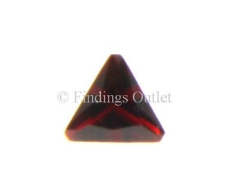 Loose Triangle Cut Garnet 6mm CZ Stone