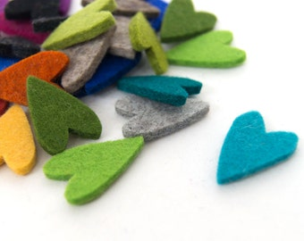 quadu 25 colorful felt heart