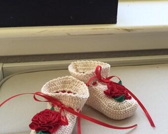 Hand Crocheted Baby Booties
