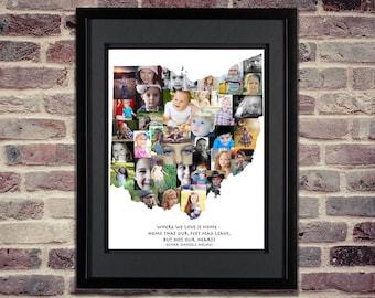 Ohio Photo Collage - Ohio State SVG - Ohio SVG - Ohio Wall Art - Ohio Art - Ohio Map - Ohio Home - Ohio Print - Ohio Decor - Ohio Gifts