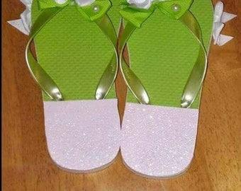 Spring Time Custom Flip Flops