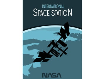 International Space Station - ISS - Original Graphic Poster