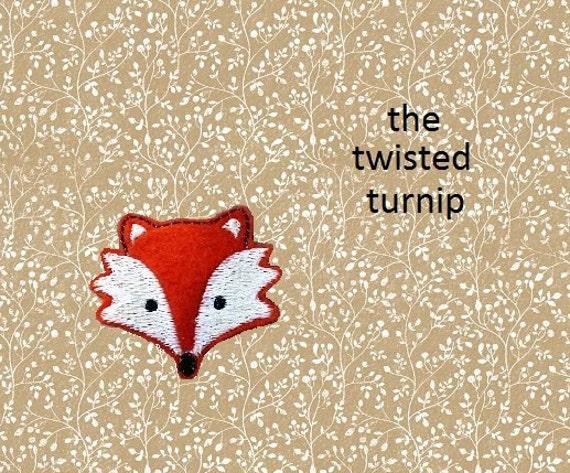 Cute Fox Head Fall Feltie Felt Embroidery Design Instant Download 4x4 Hoop