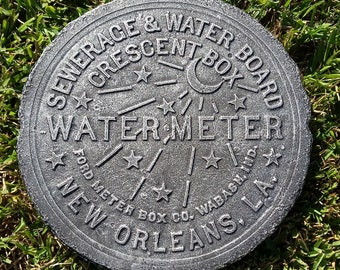 New Orleans Water Meter Cover - Silver Finish