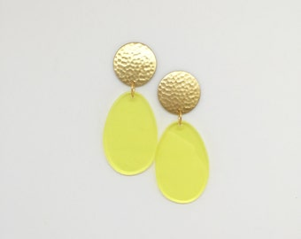 Brass Drop Sunshine Earrings