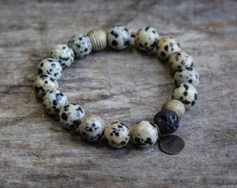 Dalmatian Bead Bracelet