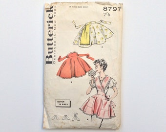1950s Apron Sewing Pattern : Butterick
