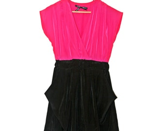 Pink & Black Dress With Pockets