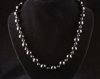 SHUNGITE NECKLACE BEADS 650mm