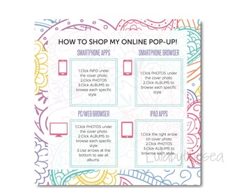 Facebook Graphic -How to Shop Online Pop Up -Social Media
