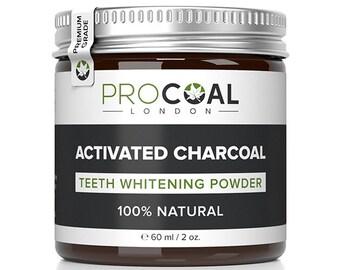 Premium Activated Charcoal Teeth Whitening Powder 60ml