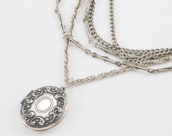 Multi Strand Oval Locket