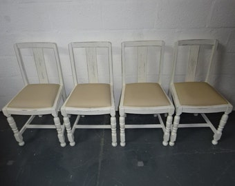 CHAIRS SALE***A set of Four Vintage 1940's Oak Dining Chair's Was 220.00 Reduced Price 200.00