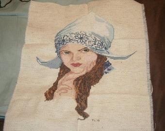 Finished Dutch Girl Cross Stitch